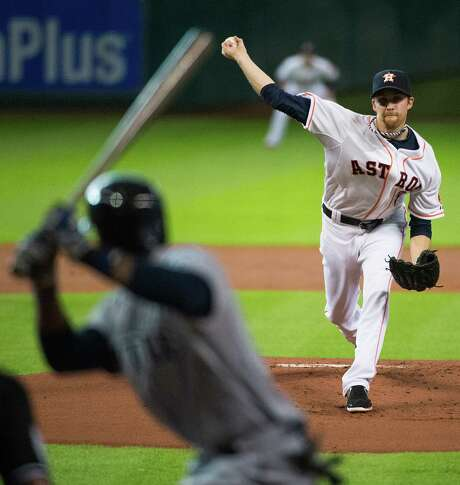 Two-thirds of the Astros' series rotation against the Red Sox this weekend hangs by a fingernail. Collin McHugh's, to be precise. His start Saturday remains in doubt, which also impacts Sunday's pitching duties. Photo: Smiley N. Pool / © 2014  Smiley N. Pool