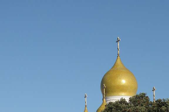 The Holy Virgin Cathedral on Geary Boulevard near 26th Avenue is a landmark of the Outer Richmond, with five onion domes above that are supposedly are coated in gold leaf. Construction began in 1961 and was completed in 1965.