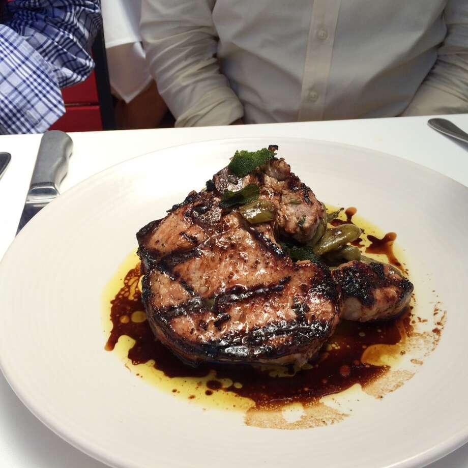 Bistro Don Giovanni, Napa: Pork chop on Romano beans ($28)