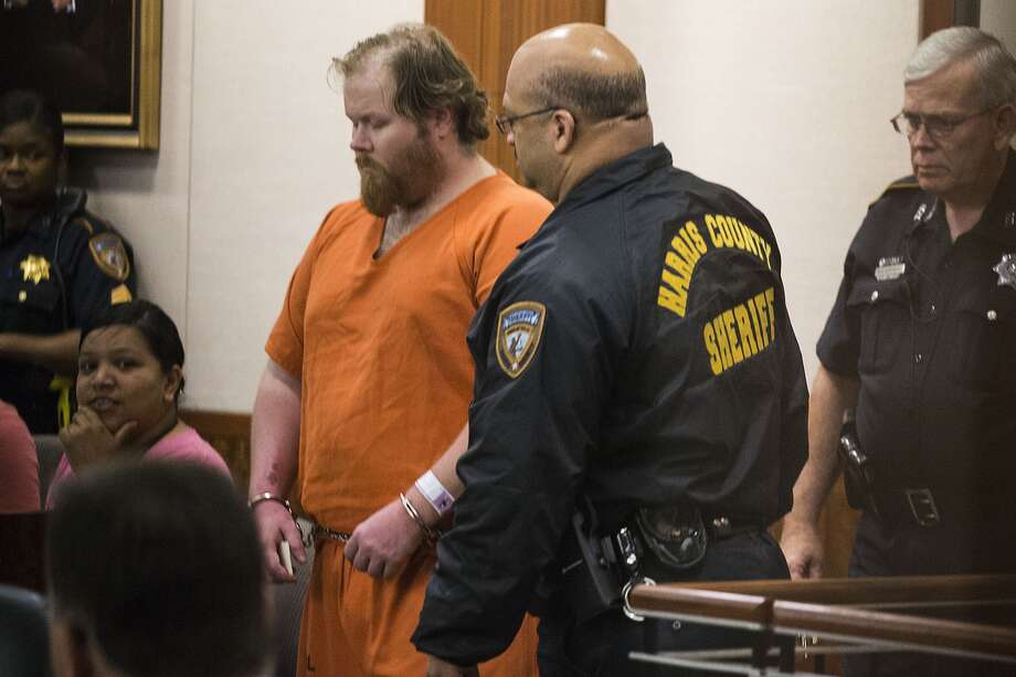 Ronald Lee Haskell, 33, appears in court in Housotn on Friday, July 11, 2014. Haskell is accused of killing six people in a massacre at a Spring, Texas home. (Brett Coomer / Houston Chronicle)