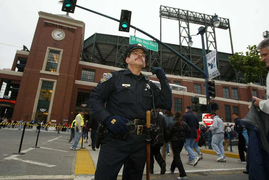 In this file photo, San Francisco police patrolman Kevin Martin works 