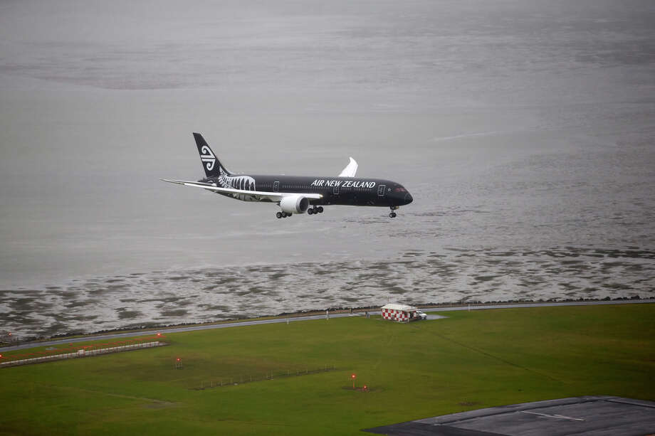 The first Boeing 787-9 Deramliner delivered to launch customer Air New Zealand arrives in Auckland, New Zealand on July 11, 2014. Photo: Air New Zealand