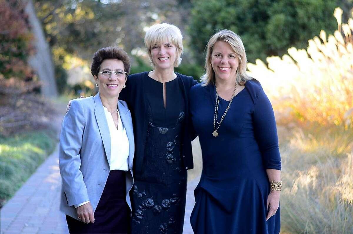 L-R: Rachel Greenfield, Peggy Northrop, Laura Fraser of SheBooks.