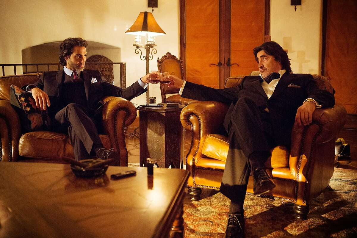 "AndrŽs Galan (Alfred Molina) & Gideon Khan (Daniel Messier) in, ""Matador."""
