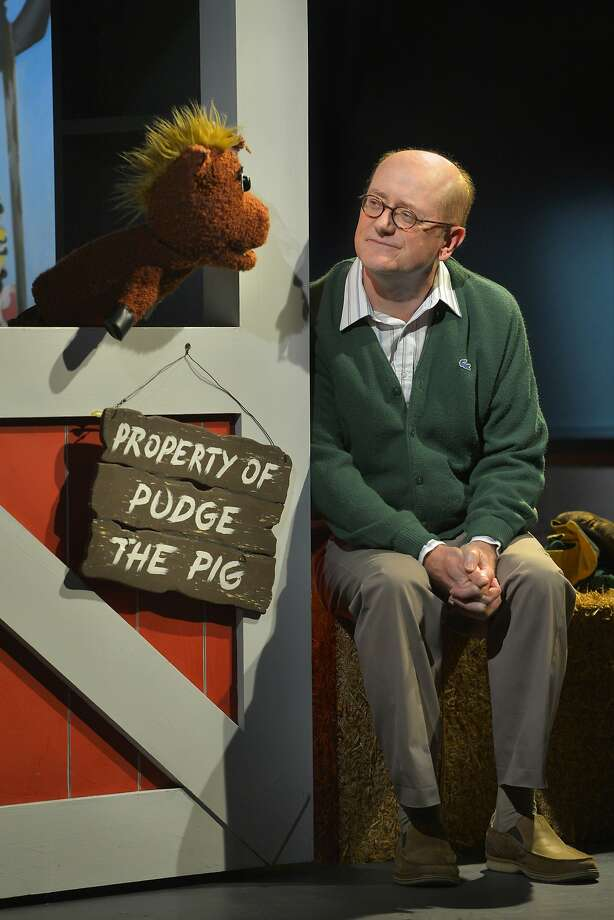 "Roy Felt (Steve Brady) talks with puppet Carol the Pony in ""The Great Pretender."" Photo: Kevin Berne"
