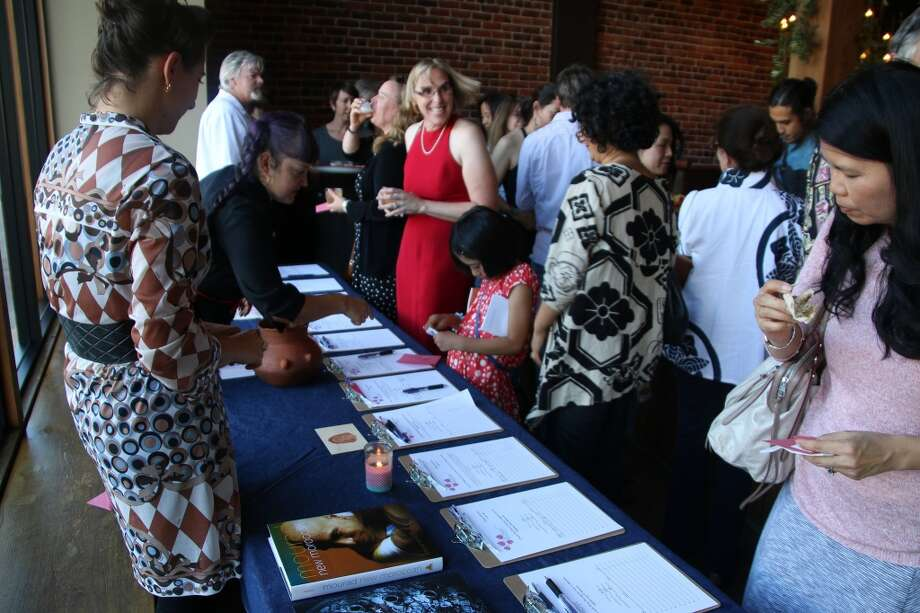 The silent auction. Photo: Alzheimer's Association