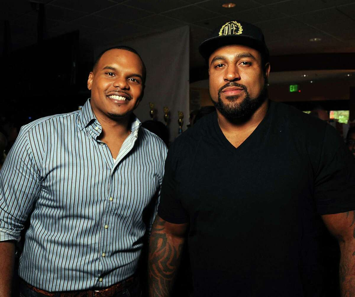 Chester Pitts, left, and Duane Brown