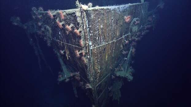 SS Robert E. LeeThe bow of the SS Robert E. Lee. The passenger steamer was on its way to New Orleans from Trinidad and was just 25 miles from the mouth of the Mississippi river when it was hit by a German torpedo. Photo: Ocean Exploration Trust