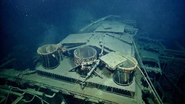 SS Robert E. LeeThe American passenger steamer sunk in 1942 in the Gulf of Mexico 25 miles southeast of the entrance to the Mississippi river.  She now rests at a depth of 5,000 feet. Photo: Ocean Exploration Trust