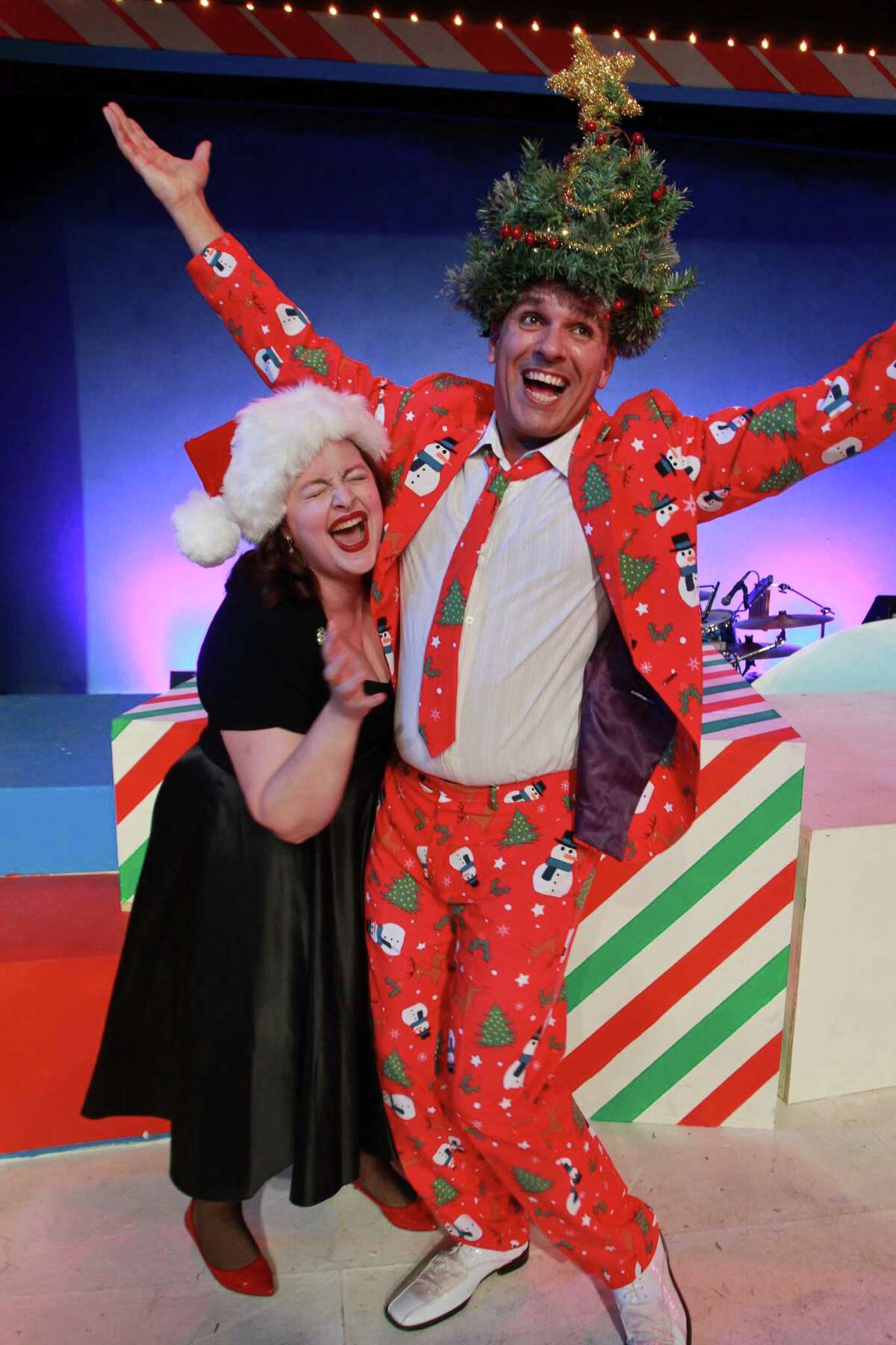 """Tamarie Cooper stars alongside Greg Dean, as Christmas, in Catastrophic Theatre's """"A Very Tamarie Christmas,"""" a show spoofing holidays well-known and virtually unknown."""