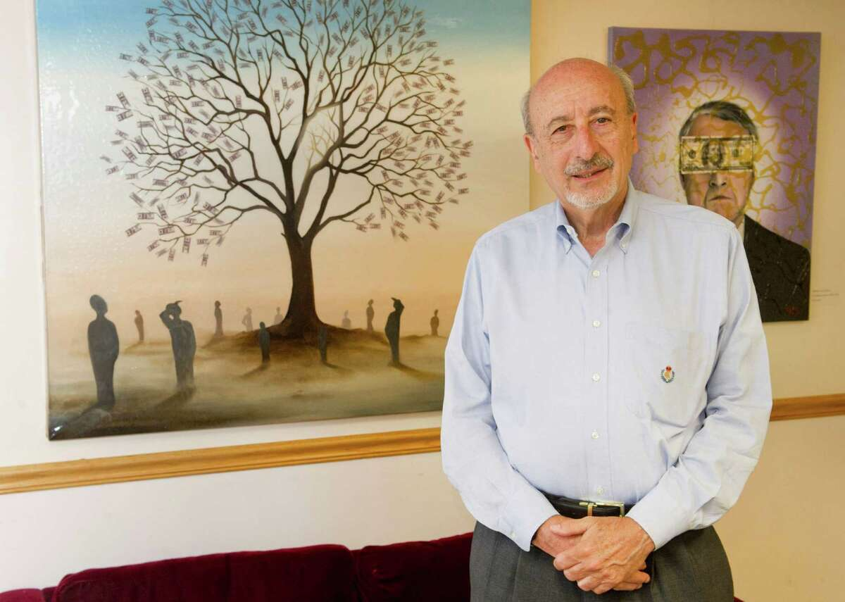Martin Levine, special adviser to Stamford Mayor David Martin, poses for a photo in Government Center office on Wednesday, July 9, 2014.