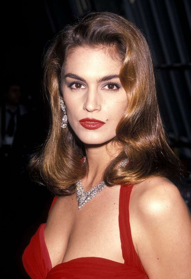 Cindy Crawford in 1990 at 24. Crawford, known for her trademark mole, was one of the biggest supermodels in the late '80s and early '90s. Photo: Ron Galella, Ltd., WireImage