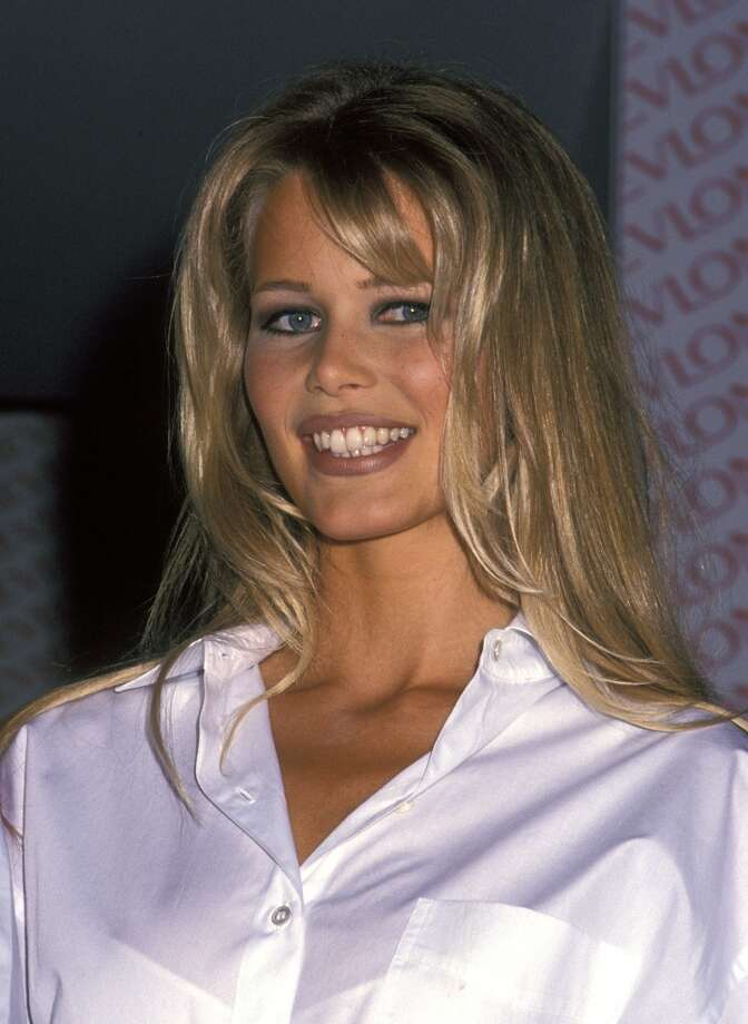 Claudia Schiffer in 1992 at age 21. The German model rose to fame in the early '90s after fronting a Guess? Jeans campaign. She went on to appear on over 1,000 magazine covers and worked with many of the major luxury brands. Photo: Ron Galella, WireImage