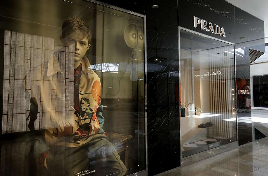 The price is right: The Prada boutique became part of the luxury section of the once-solidly middle-class Westfield Valley Fair mall in Santa Clara - one of a glittering string of retail designer names. Photo: Michael Macor, The Chronicle