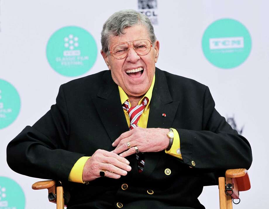 "Jerry Lewis, 2014Lewis has appeared dozens of films since, and was known for his annual telethon up until 2010. His most recent role was that of a bellboy in a Brazilian movie called ""Até que a Sorte nos Separe 2"" (""Till Luck Do Us Part 2"".) Photo: Tibrina Hobson, Getty Images / 2014 Tibrina Hobson"