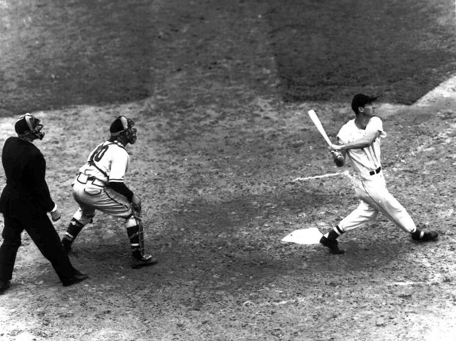 """MOST MEMORABLE PITCHTed Williams was an All-Star every year from 1940-60, except when serving in the military.In 1946, at Williams' domicile, Boston's Fenway Park, he hit two more All-Star homers and went 4-for-4. His second homer became the story of the day, but the focus was the pitch, not the hit.Rip Sewell was on the mound. Sewell threw one of his """"eephus"""" balls, a high-arcing, slow-moving bloop pitch, and Williams drilled it into the right-field bullpen for a homer. Photo: Press, Associted Photo By, AP"""