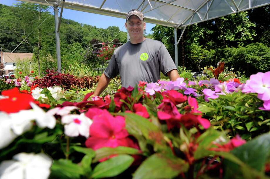 Chris Bruzzi, is the owner of Green Spot, a new nursery which opened up at 354 Litchfield Road, New Milford, Conn.  Friday, July 11, 2014. Photo: Carol Kaliff / The News-Times