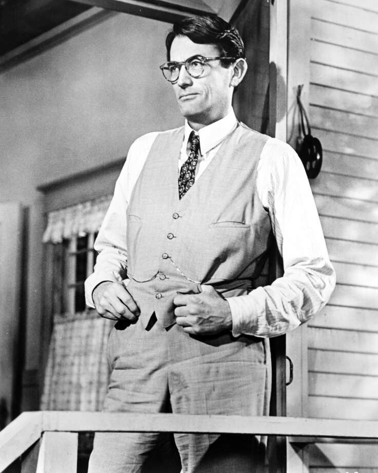 "3) ATTICUS: The most famous person with this name was undoubtedly lawyer Atticus Finch of ""To Kill a Mockingbird"" fame. Photo: Getty Images"