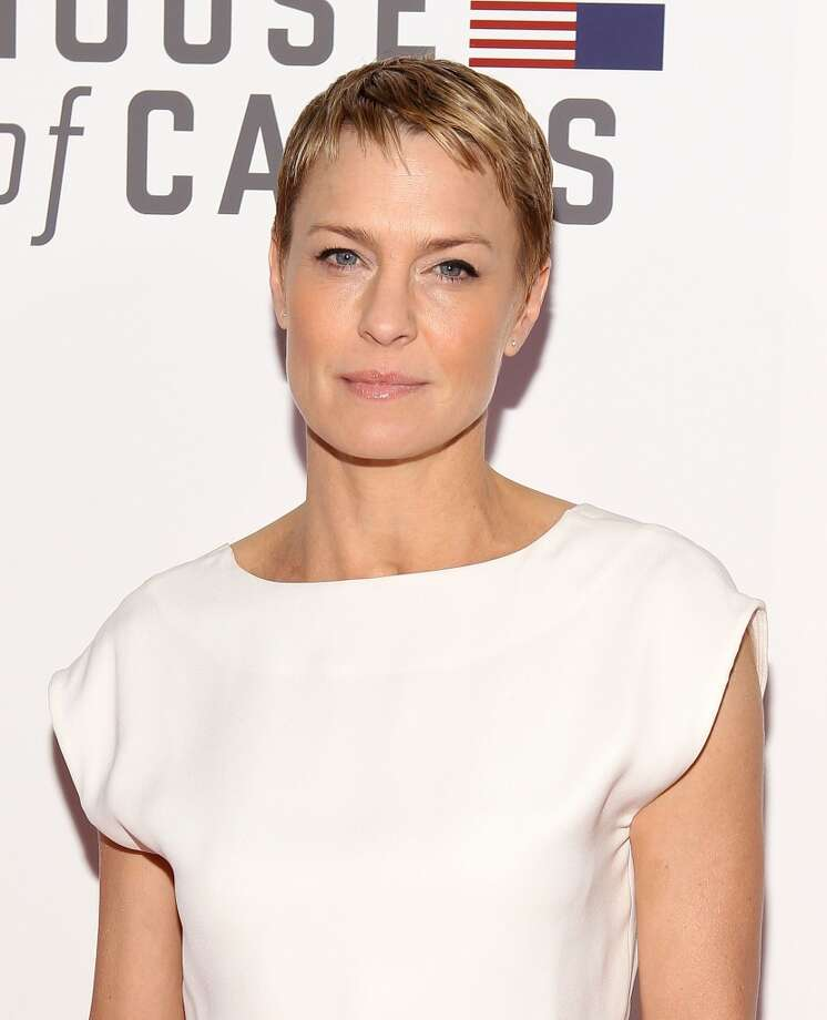 "10) CLAIRE:   Actress Robin Wright's character on ""House Of Cards"" is icy but unforgettable. Photo: WireImage"