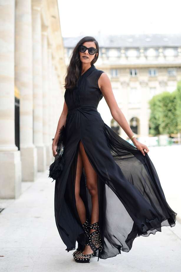 Sonia Maria poses wearing an On Aura Tout Vu total look before the On Aura Tout Vu show on July 7, 2014 in Paris, France. Photo: Vanni Bassetti, Getty Images