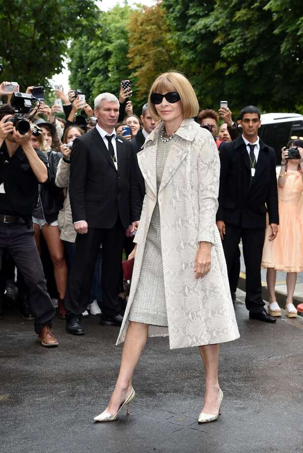Anna Wintour arrives to attend the Chanel show as part of Paris Haute Couture Fashion Week on July 8, 2014 in Paris, France. Photo: Jacopo Raule, GC Images