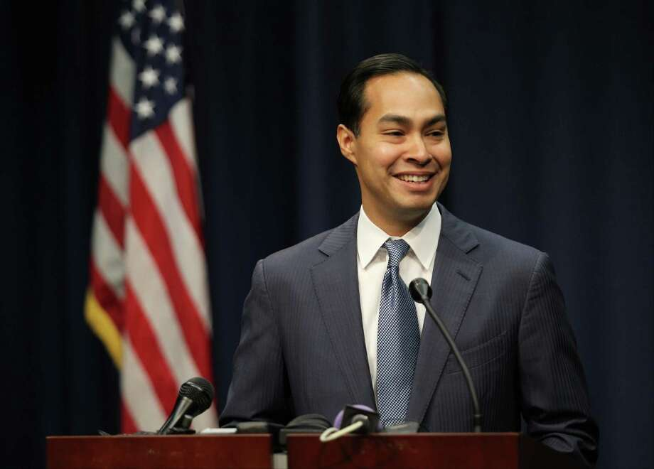San Antonio Mayor and incoming Secretary of Housing and Urban Development Julian Castro speaks during a news conference on Wednesday, July 9, 2014, at San Antonio City Hall. Photo: Timothy Tai, Staff Photographer / © 2014 San Antonio Express-News