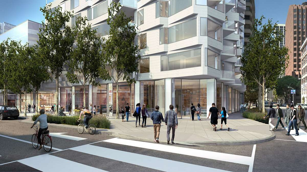 The proposed 40-story tower at Folsom and Spear streets, designed by Jeanne Gang for developer Tishman Speyer, would have a ground floor of shops.