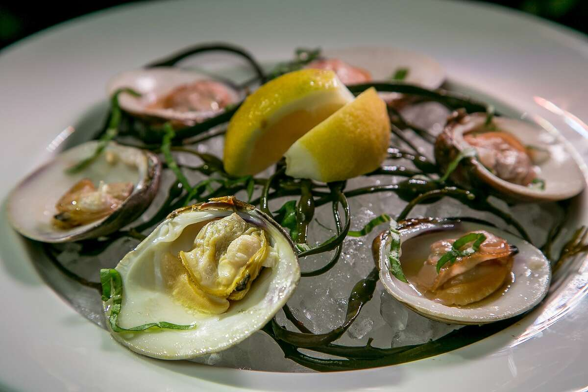 The raw Littleneck Clams at Gaspar in San Francisco, Calif., are seen on Wednesday, July 9th, 2014.