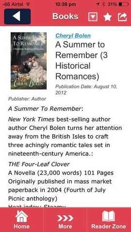 Novel Engagement is a mobile app for romance novel fans.