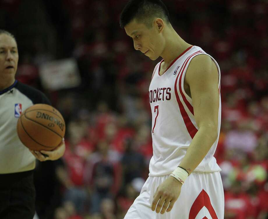 Point guard Jeremy Lin never could live up to the hype and expectations that followed him to Houston from his time with the Knicks after the Rockets signed him as a free agent in 2012. Photo: James Nielsen, Staff / © 2014  Houston Chronicle