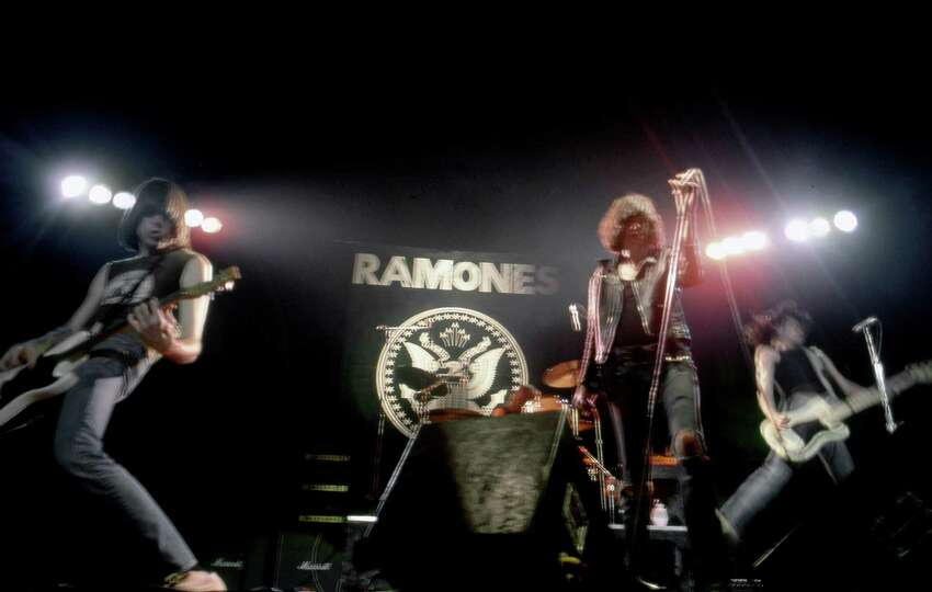 DETROIT - JANUARY 14: Musicians Tommy Ramone, Dee Dee Ramone, Johnny Ramone and Joey Ramone of the rock and roll band