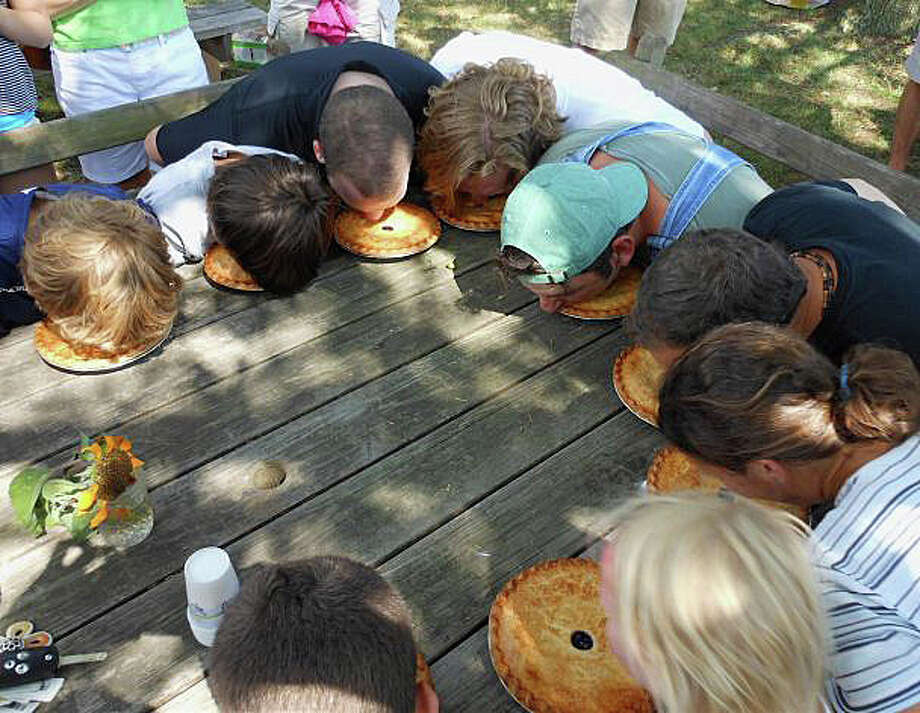 Pie eating is one of the activities planned Sunday during Wakeman Town Farm's annual Family Fun Day. The event is set from noon to 4 p.m. at the farm, 134 Cross Highway. Photo: File Photo / Fairfield Citizen