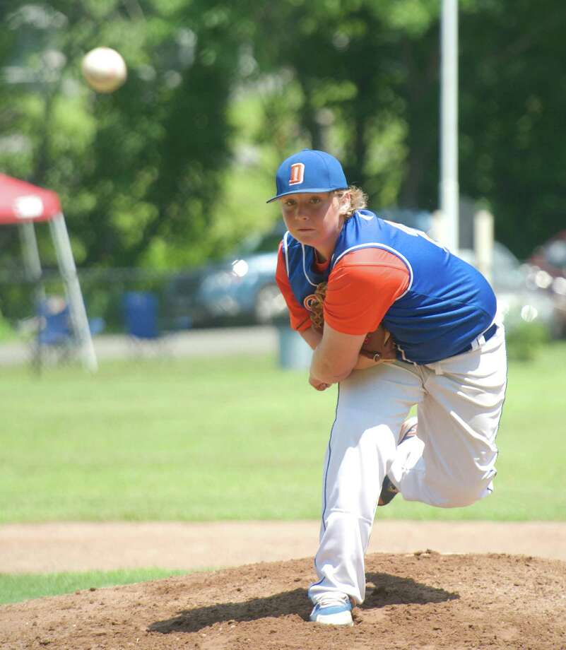 Danbury pitcher Richard Wekerle (24) during the Cal Ripken 12/70 state baseball championship between Newtown and Danbury, Conn, on Saturday, July 12, 2014, played at Town Hall Field, in Roxbury, Conn. Photo: H John Voorhees III / The News-Times Freelance