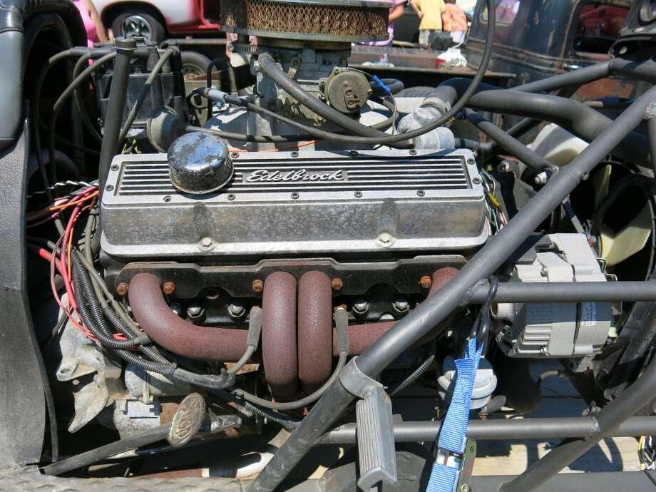 The trike's engine.