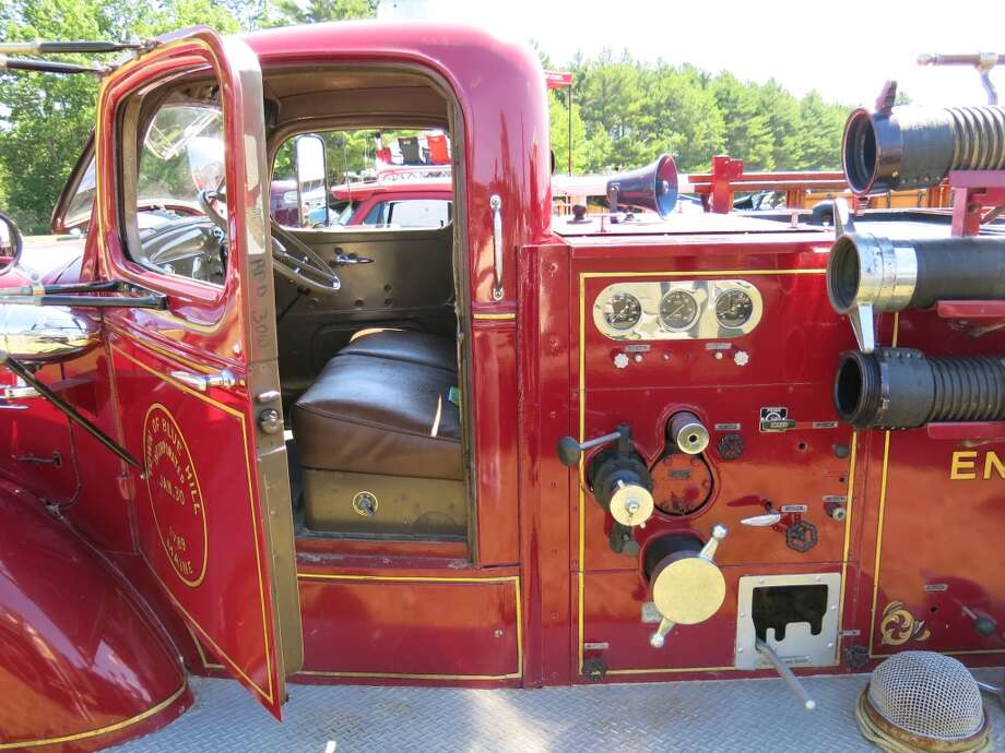 The 1940 Mack fire truck.