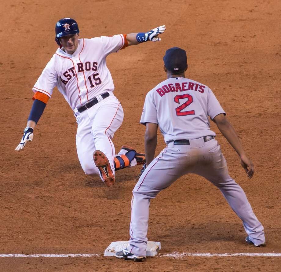 July 12: Astros 3, Red Sox 2  Jason Castro homered and tripled while driving in two runs as the Astros scored the go-ahead run in the 8th inning to even the series with the Red Sox.  Record: 40-55. Photo: Smiley N. Pool, Houston Chronicle