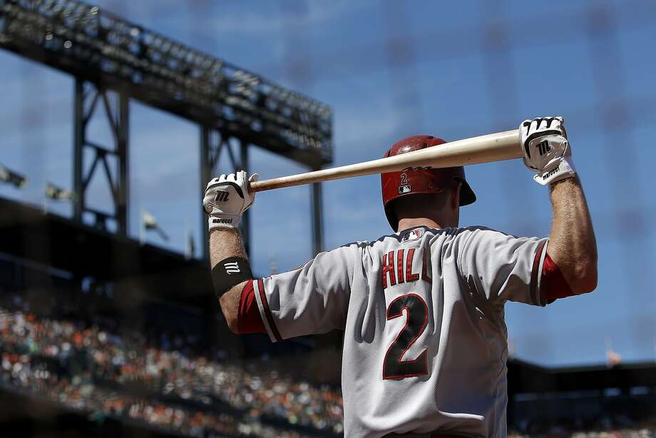 Arizona's #2 Aaron Hill went 2 for 4 with a home run and a double as the San Francisco Giants lost to the Arizona Diamondbacks 2-0 at AT&T Park in San Francisco, CA, Saturday, July 12, 2014. Photo: Michael Short, The Chronicle