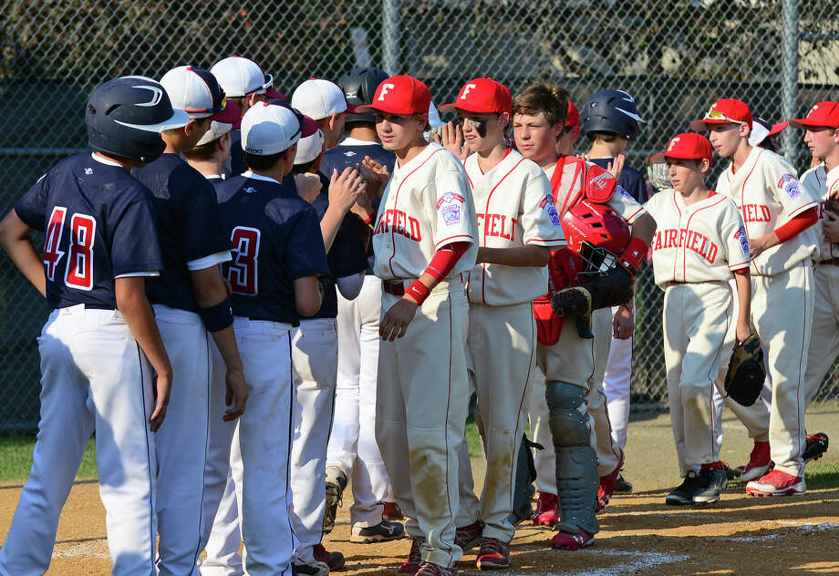 Little league action between Fairfield American and Westport at Unity Park in Trumbull, Conn. on Saturday July 12, 2014. Photo: Christian Abraham / Connecticut Post