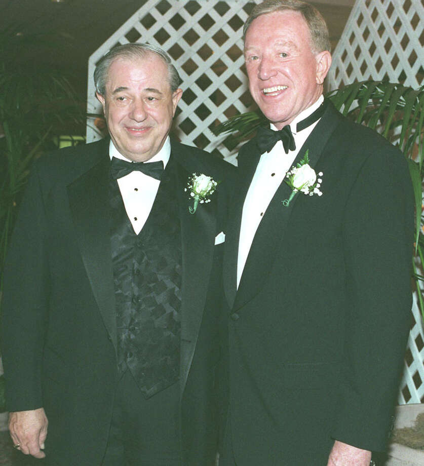 Junior Achievement of South Texas had Business Hall of Fame Awards Dinner at Marriott Rivercenter Hotel.(LtoR) Ronald K. Calgaard and Bob W. Coleman were honorees. 01-13-98