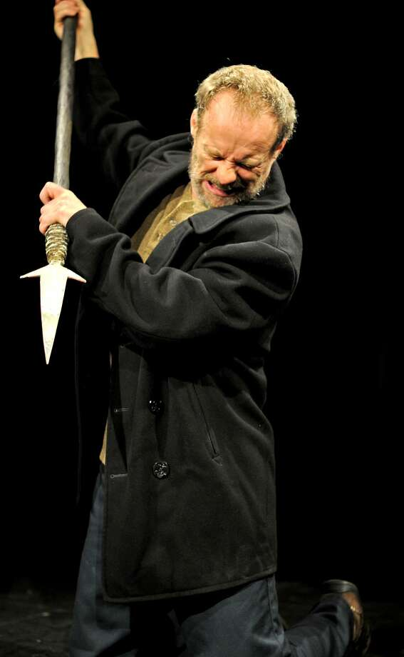 "Rod Gnapp as Ahab in Stanford Repertory Theater's ""Moby Dick -- Rehearsed"" by Orson Welles Photo: Stefanie Okuda"
