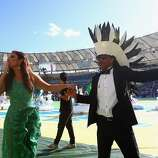 Singer Ivete Sangalo and musician Carlinhos Brown perform during the closing ceremony prior to the 2014 FIFA World Cup Brazil Final match between Germany and Argentina at Maracana on July 13, 2014 in Rio de Janeiro, Brazil.