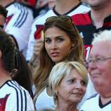 Ann-Kathrin Brommel, girlfriend of Mario Gotze of Germany, looks on prior to the 2014 FIFA World Cup Brazil Final match between Germany and Argentina at Maracana on July 13, 2014 in Rio de Janeiro, Brazil.
