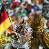 Dancers perform during the closing ceremony prior to the 2014 FIFA World Cup Brazil Final match between Germany and Argentina at Maracana on July 13, 2014 in Rio de Janeiro, Brazil.