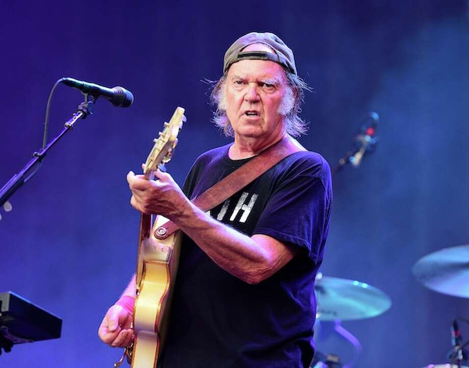 LONDON, UNITED KINGDOM - JULY 12: Neil Young of Neil Young and Crazy Horse performs on stage at British Summer Time Festival at Hyde Park on July 12, 2014 in London, United Kingdom. Photo: Redferns Via Getty Images / 2014 Gus Stewart