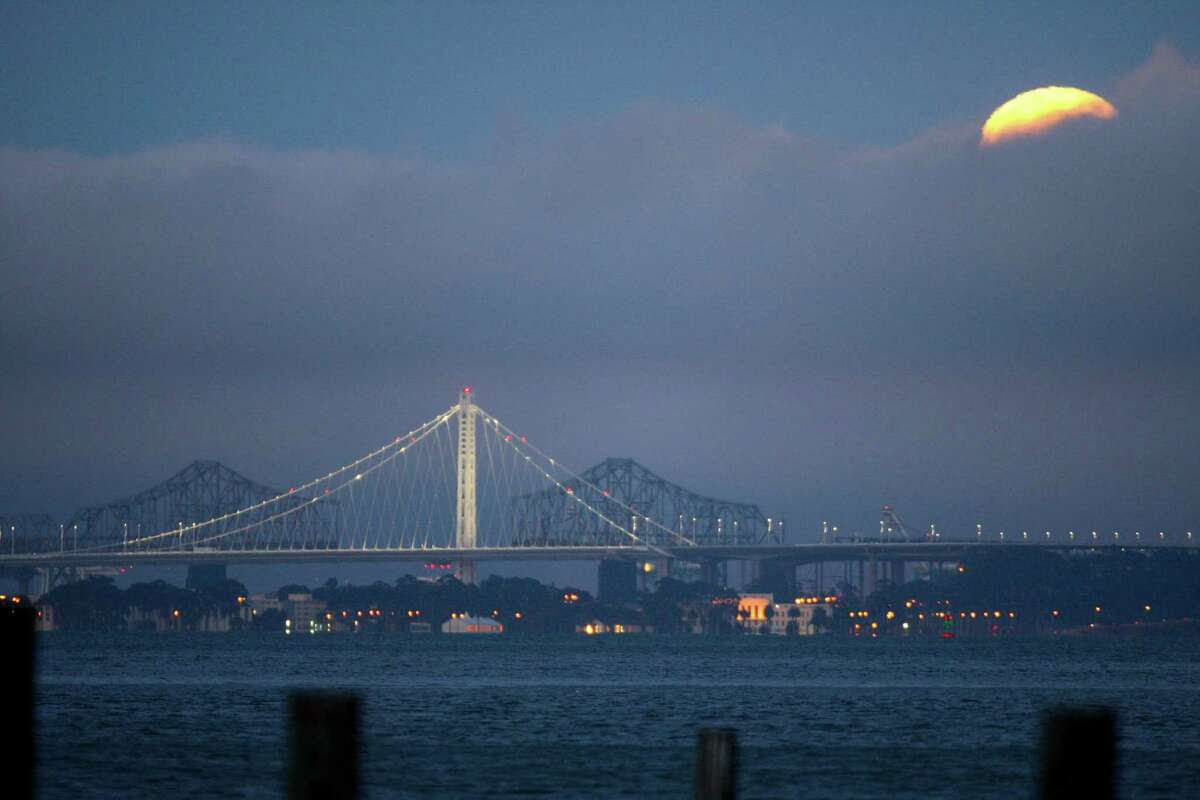 The Bay Bridge eastern span on July 12, 2014, as seen from Sausalito.