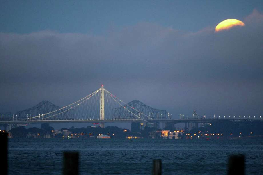 The Bay Bridge eastern span on July 12, 2014, as seen from Sausalito. Photo: Craig Hudson / Craig Hudson / The Chronicle / ONLINE_YES