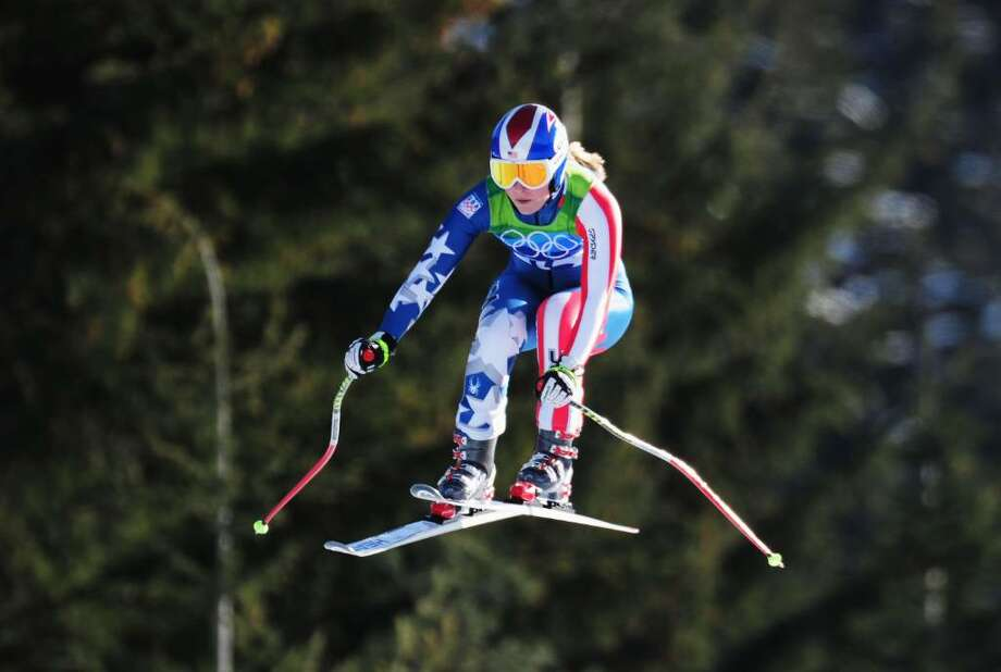 Lindsey Vonn of the United States competes during the Alpine Skiing Ladies Downhill on day 6 of the Vancouver 2010 Winter Olympics at Whistler Creekside on February 17, 2010 in Whistler, Canada. Photo: Shaun Botterill, Getty Images / 2010 Getty Images