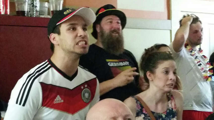 David Valdez let's nerves get the best of him as Germany misses a goal near the end of the World Cup Finals game.