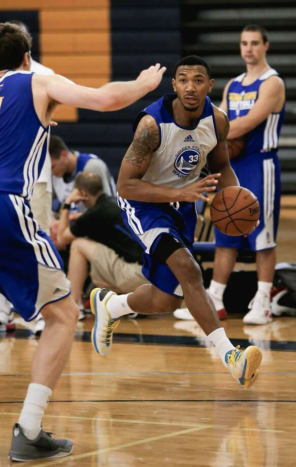 A big-time scorer at UC Santa Barbara, Orlando Johnson has to remember to keep the ball moving in the Warriors' offense. Photo: Michael Macor, The Chronicle