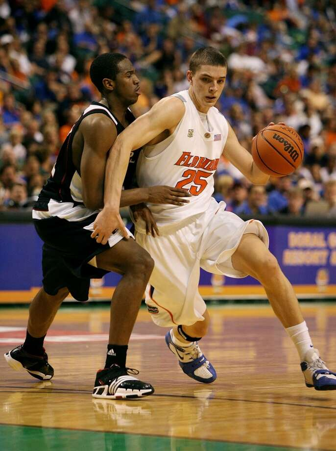 University of Florida: freshman season (2007-08)  Parsons averaged 8.1 points and 4 rebounds in his first season with the Gators, playing in 36 games. Photo: Doug Benc, Getty Images